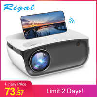 Rigal RD850 Mini Proyector 720P Proyector WiFi Android IOS Smartphone para Video de 1080P HD LED Proyector de cine en casa Beamer