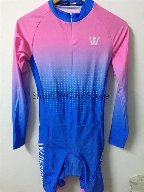 Triathlon skinsuit para bicicletas, traje de triatlo para ciclismo personalizado, manga longa, conjunto de roupas para estrada 5