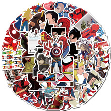 50PCS DC Superhero Marvel Hero Sticker Movie Sticker for DIY Sticker on Travel Case Laptop Skateboard Guitar Fridge Phone Decel