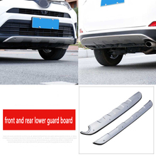 Front Stainless steel Rear Bumper Guard Protector Skid Plate Front and rear bumper guard for Toyota RAV4 16-19 decorative rear bumper skid protector guard plate stainless steel for bmw x6 f16 2015