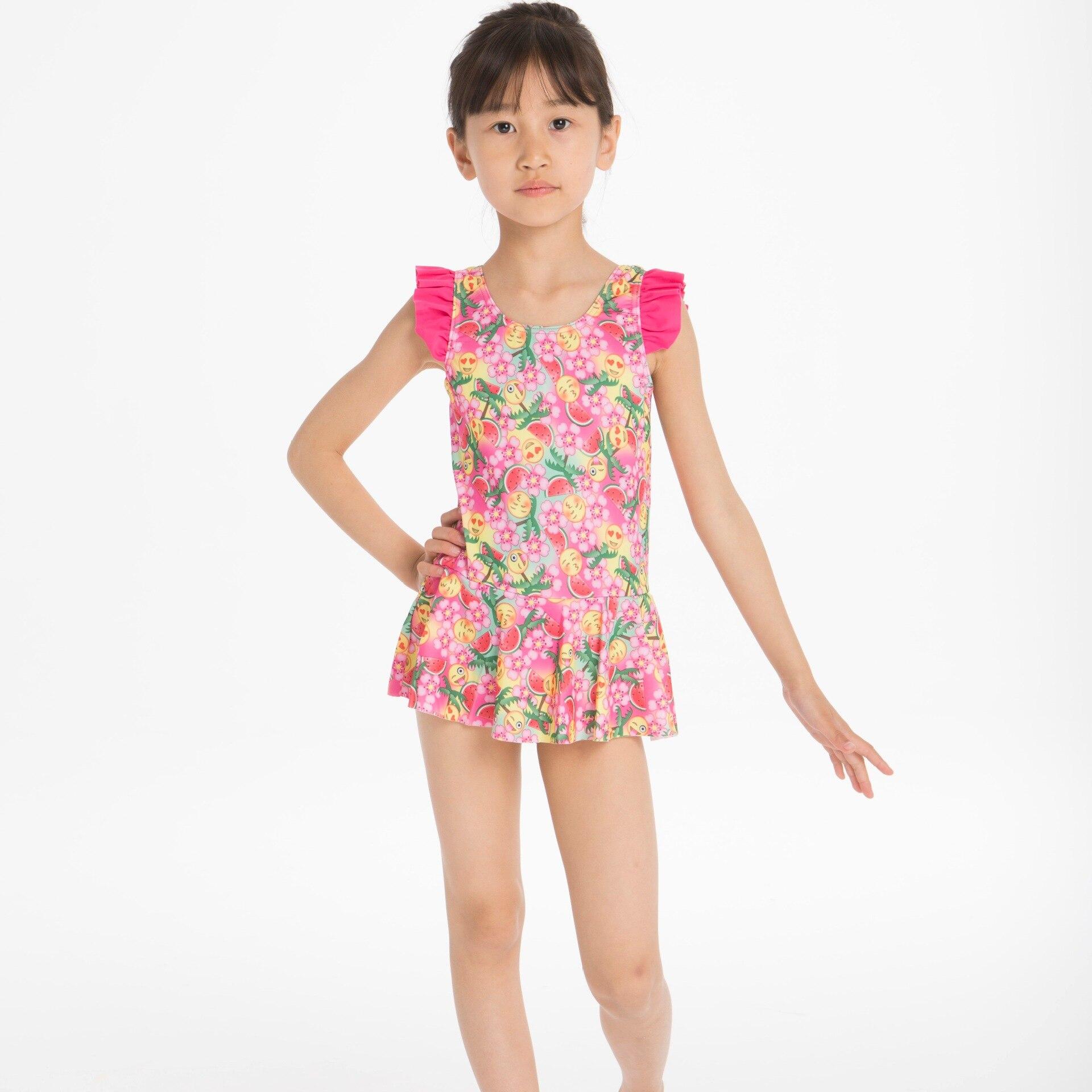 Children Qun Bai Shi Siamese Swimsuit Girls Swimwear Supply Of Goods