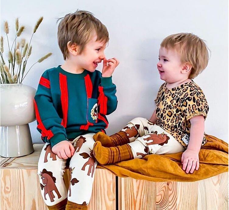 Mini R New Autumn Kids Pants Girls Sport Wear Outfits Cartoon Thanksgiving Toddler Baby Girl Legging Christmas Boy Clothes 1-8Y 4
