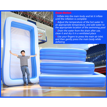 150-300cm 3Layer Children Inflatable Pool Bathing Tub Kid Adult Home Outdoor Large Swimming Pool Inflatable Square Swimming Pool