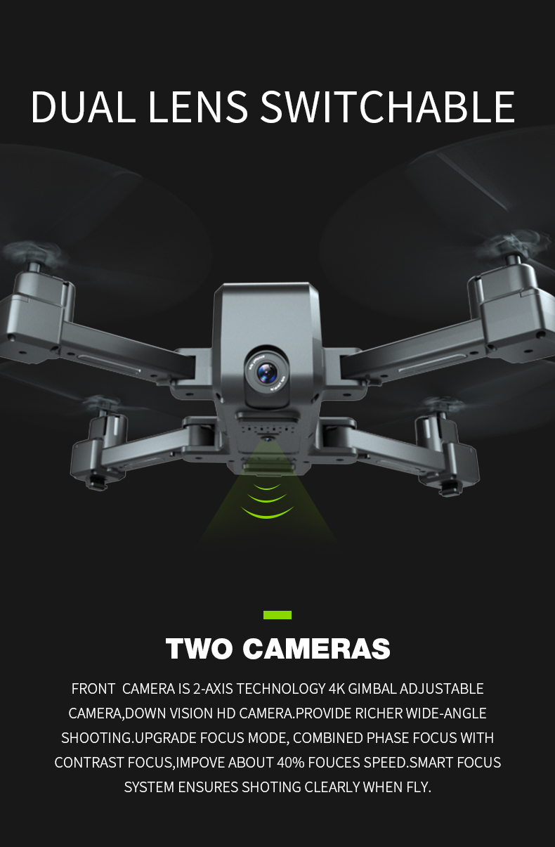 SHAREFUNBAY drone GPS 4K HD 5G WIFI FPV drone ESC camera height keep flight for 20 minutes distance control 17