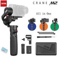 Zhiyun Crane-M2 Gru M2 3-Axis Handheld Gimbal Stabilizzatore Portatile All in One per Fotocamere Mirrorless Smartphone Telecamere di Azione