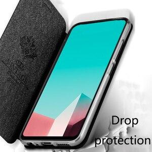 Image 3 - Caso di vibrazione per Huawei Honor caso di 9X HLK AL00 Honor 9X della copertura da 6.59 pollici CPU Kirin 810 posteriore del cuoio mofi del silicone libro di scintillio di lusso