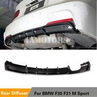 Fibra de carbono/frp unpainted amortecedor traseiro difusor spoiler para bmw série 3 f30 f31 m sport amortecedor 2012 - 2017
