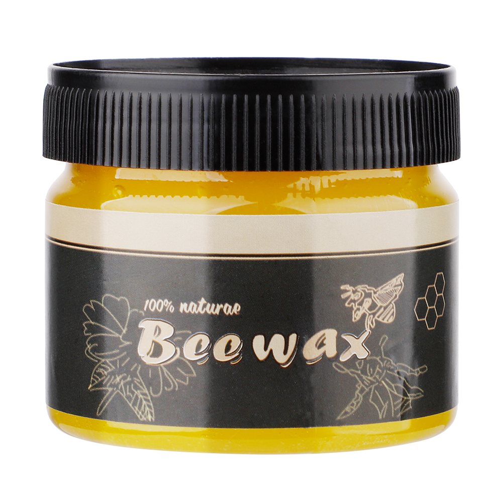 80g Wood Seasoning Beewax Waterproof Wear-resistant Complete Solution Furniture Care Beeswax Home Cleaning Cleaner Tools