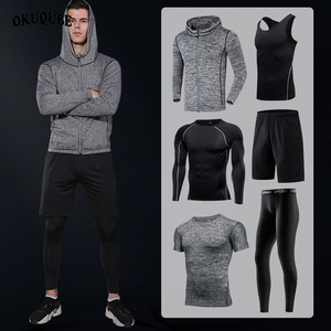 Image 1 - Men Sportswear Compression Sport Suits Breathable Gym Clothes Man Sports Joggers Training Gym Fitness Tracksuit Running Sets 3XL