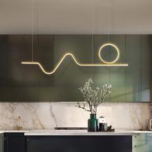 Nordic ouro led pingente de luz design moderno para sala estar jantar quarto cozinha linha brilho pendurado lâmpada casa luminárias