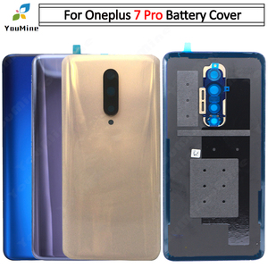 Image 2 - Original For OnePlus 7 Pro Back Battery Cover Door Rear Glass For Oneplus 7t pro Battery Cover Housing Case with Camera Lens