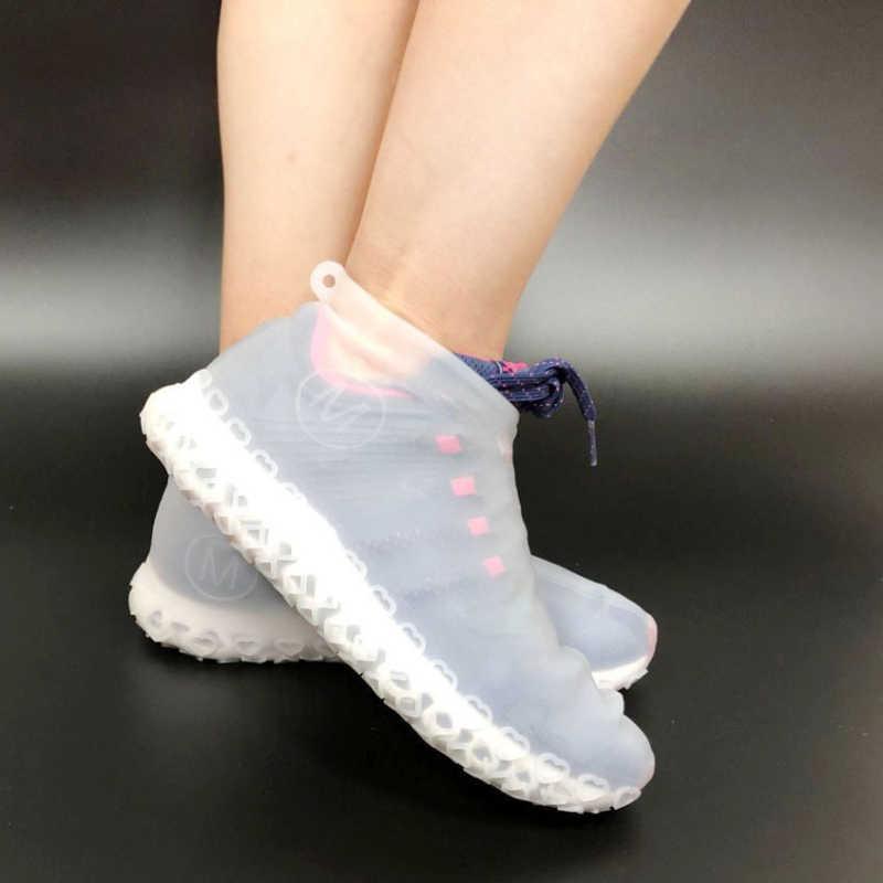 รองเท้ากันน้ำซิลิโคนวัสดุ Unisex รองเท้าป้องกันรองเท้ากลางแจ้งในร่ม Rainy Days