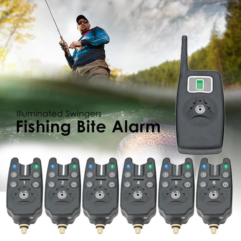 Hot Sale Fishing Bite Alarms Delicate Texture Wireless Digital Fishing Bite Alarm Receiver LED Alarm Indicator W/ Zipped Case