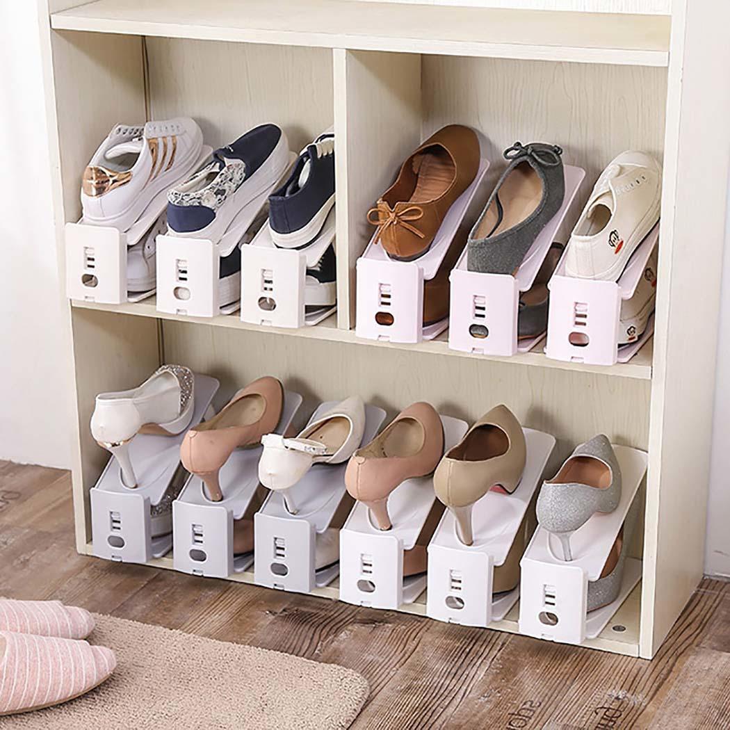 Creative Household Adjustable Double Floor Shoe Racks Solid Rack Casual Shoes Racks Storage Home Organizer Shoe Cabinets Aliexpress