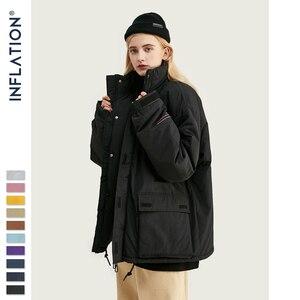 Image 5 - INFLATION 2020 Männer Winter Parka Jacke Einfarbig Herren Warme Parka Jacke Streetwear 10 Verschiedene Farbe Männer Parka Jacke 8761W