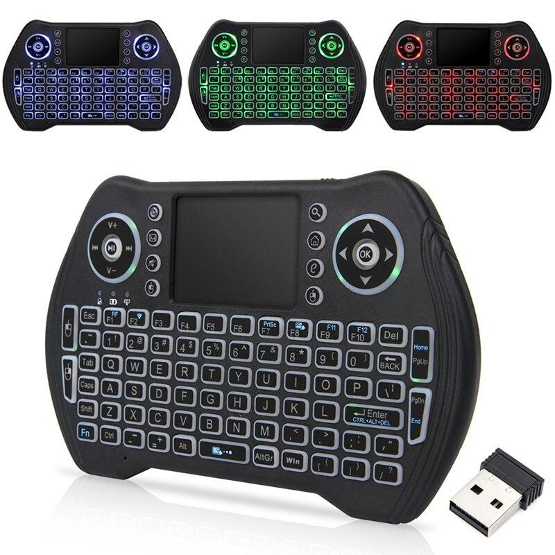 2,4G мини мышь, Мультимедийный пульт дистанционного управления, беспроводная клавиатура с подсветкой, сенсорная панель, портативная клавиатура для геймпада, ТВ бокс|Пульты ДУ|   | АлиЭкспресс