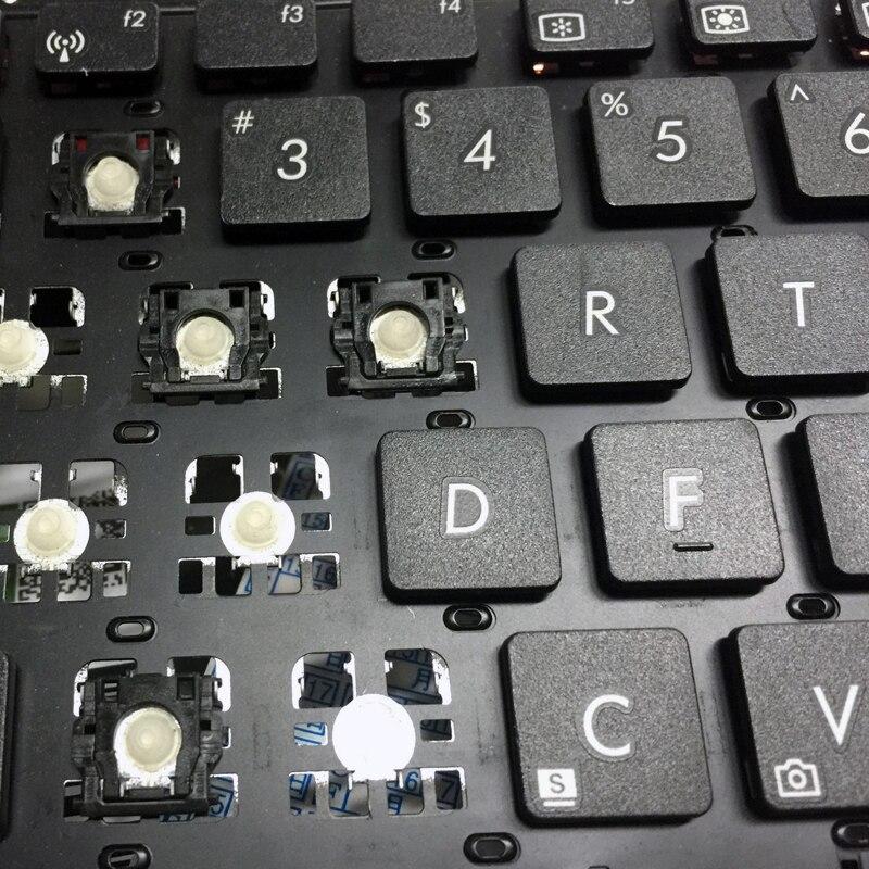 Replacement Keycap Key cap &Scissor Clip&Hinge For ASUS X450C A450V A450C F450VC X450L  Y481C K450J K450C F550C Keyboard