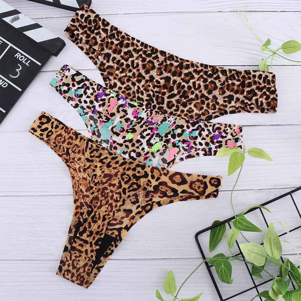 1 Pc Leopard Style Women Sexy Seamless Underwear Women Panties G String Women Briefs Lingerie Thong For Women Creative