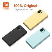 Original Xiaomi Mi 11 Lite de la piel de la caja de silicona-funda trasera suave TPU para Xiaomi Mi 11 Lite oficial xiaomi 11 lite