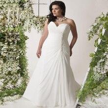 Plus Size Wedding Dresses Sweetheart Sleeveless Pearls Pleats Chiffon Beach Boho Wedding Dress Robe De Mariage plus size flower sleeveless dress