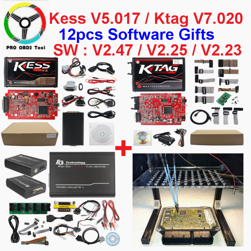 2019 Master Online EU Red Kess V2 V5.017 V2.47 Ktag Newest V2.25 No Tokens Limited ECU Chip Tuning Ktag V2.23 ECU Programmer