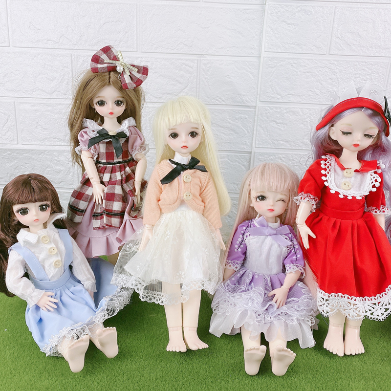 New For 28/30cm BJD Doll Clothes Dress Toy Accessories 1/6 Spring Summer Autumn And Winter DIY Dress Up Clothing