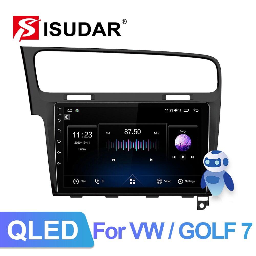 Автомагнитола Isudar V72, Android 10, для VW/Volkswagen/Golf 7, GPS, автомобильный мультимедийный плеер, Восьмиядерный процессор, ОЗУ 6 ГБ, ПЗУ 128 ГБ, FM, разъем 2DIN