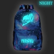 Mochila Fairy Tail Luminous Backpack teens Knapsack Girls Book Bags Travel Shouler Knapsack Boys School bag Laptop Rucksack