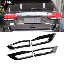 JHO Black Tail Light Cover Tail Lamp Trim Bezel For Jeep Grand Cherokee 2014-2020 2015 2016 2017 2018 Limited Car Accessories