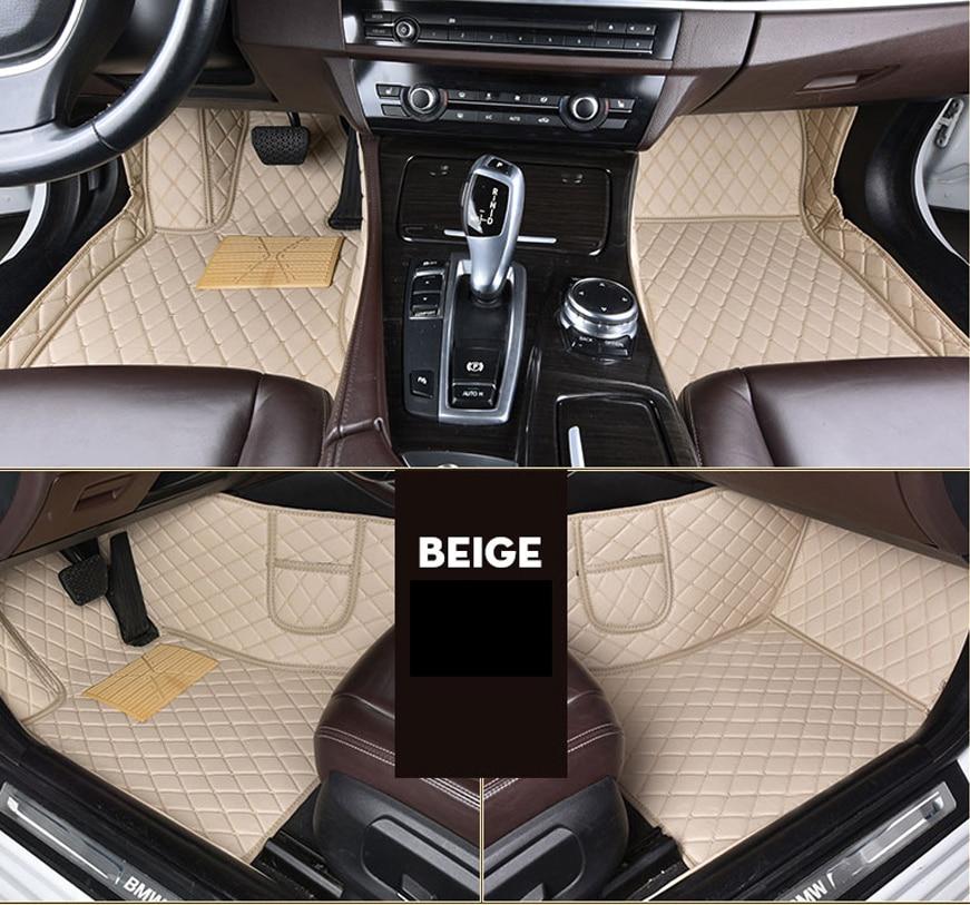 leather car floor mats for Volkswagen vw Touareg 2009 10 11 12 13 14 15 16 17 Custom foot Pads automobile carpet cover
