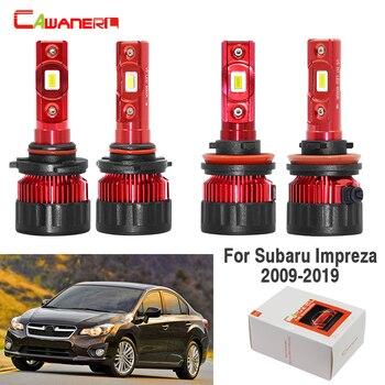 Cawanerl 4 Pieces Car LED Headlight Lamp High Low Beam White 60W 9000LM 12V For Subaru Impreza 2009-2019
