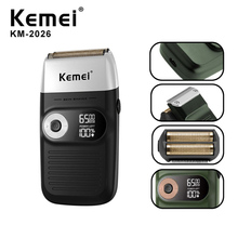 KEMEI Electric Shaver Rechargeable Electric Beard Trimmer Sh