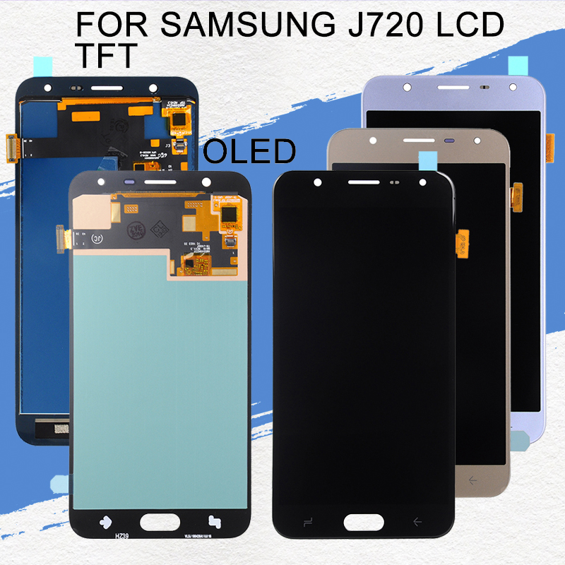 Dinamico J7 2018 Display For Samsung Galaxy <font><b>J720</b></font> <font><b>Lcd</b></font> J720F J720M Display With Touch Screen Digitizer Assembly Free Shipping image