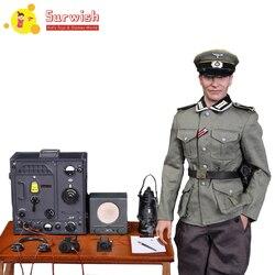 Il trasporto Libero 1/6 Bilancia Soldier Action Figure Vestito Mobile Headsculpt Tedesco di Comunicazione Centro Radio Soldato Caporale