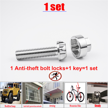 Bolt Security Anti Theft Screws Bolt Nuts M6 M8 M10 bolt screw 304Stainless Steel Mountain Bike Awning Car Accessories LED Light m6 m8 m10 din316 butterfly bolt wing bolt set wing nuts claw screw thumbscrew stainless steel
