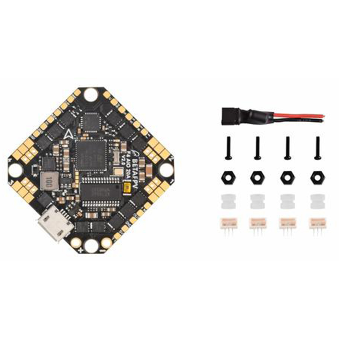 BETAFPV Toothpick F4 1-4S AIO Brushless Flight Controller 20A BLHeli_S 4in1 ESC Ultralight Stack For DIY FPV Drone Quadcopter