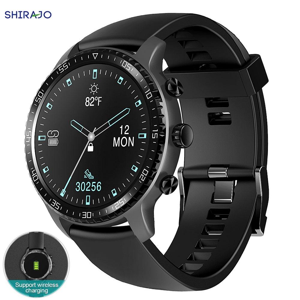 Relógio inteligente suporte de carregamento sem fio bluetooth rastreador de fitness com monitor de freqüência cardíaca 2020 versão smartwatch para android ios|Relógios inteligentes|   -