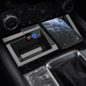 Для Mazda CX5 2017 2018 2019 2020 Автомобильный держатель для телефона с беспроводной зарядкой 30 Вт 18 Вт PD быстрое зарядное устройство QC 3,0 USB зарядное ус...