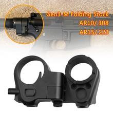 Tático gen 3-m ar dobrável estoque adaptador peças m4/m16 ar15 ar10 rifle receptor extensão caça acessórios metal preto 2-42-3