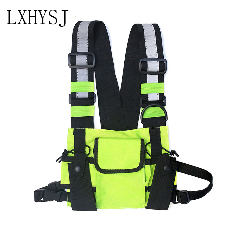 Fashion Chest Rig Bag Waist Bag Unisex Tactical Vest Rig Hip Hop Bags Streetwear Functional Chest Pack For Men Nylon Fanny Pack