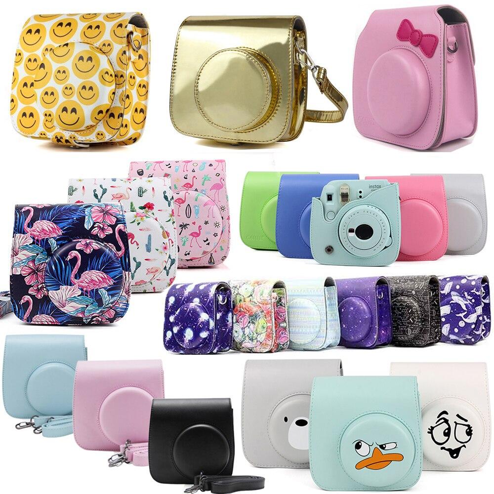 Fujifilm Instax Mini Camera Bag ColorfuI Instant Camera Accessorie PU Leather Case With Shoulder Strap For Instax Mini 9 Min8 8+|Camera/Video Bags|   - title=