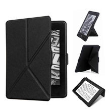 Suporte para kindle paperwhite 1 2 3 couro do plutônio capa inteligente para kindle paperwhite 6 case e-book tablet caso com suporte dobrável