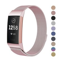 Fitbit Charge 2 3 4 Stainless Steel Metal Mesh Band Replacement Wist Strap  Men Women Watchband S/L SIZE