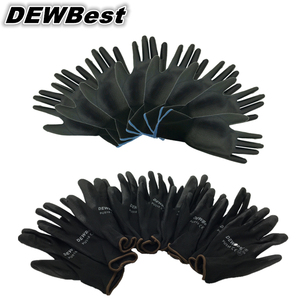 Image 4 - DEWbest gloves new store factory direct work gloves PU material safety protection gloves 12pairs / lot European standard 001 d9