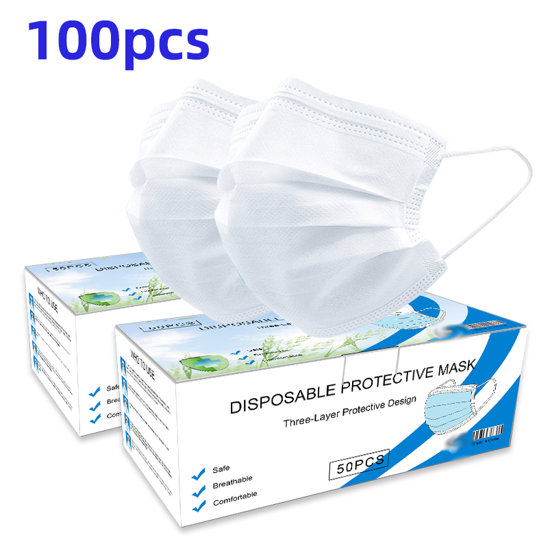 In Stock ! Dust Masks Mouth Masks 3 Laye Anti-fog And Breathable Face Masks Mask Breathable Dustproof Mouth Mask Personal