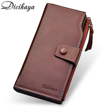 DICIHAYA Women Wallets Genuine Leather Wallet For Women Long