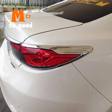 for 2012 2013 2014 2015 mazda cx 5 cx 5 cx5 abs chrome rear fog light lamp cover trim tail fog light cover car styling accessory For Mazda 6 2013 2014 2015 2016 Atenza Accessories Car ABS Chrome Rear Back Tail Light Lamp Cover Trim Styling Decoration 4pcs