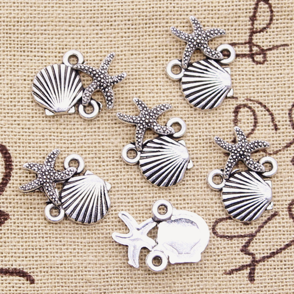 Crab Charm//Pendant Tibetan Antique Silver 19mm  12 Charms Accessory Jewellery