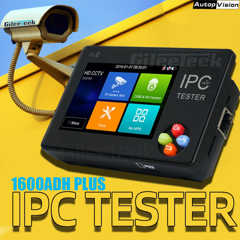 NEW Smart IPC Tester Monitor 3.5inch 4K H.265 IP & CVBS IP AHD TVI CVI Camera Tester For Dahua Hikvision ONVIF IPC1600ADH Plus