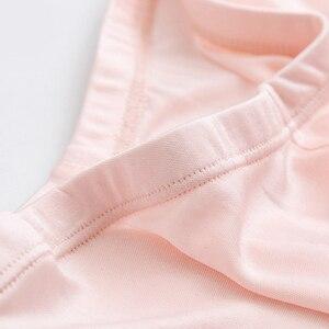 Image 5 - Silk plus size woman panties underwear women lingerie majtki damskie bragas mujer boxer femme under skirt safety shorts pants